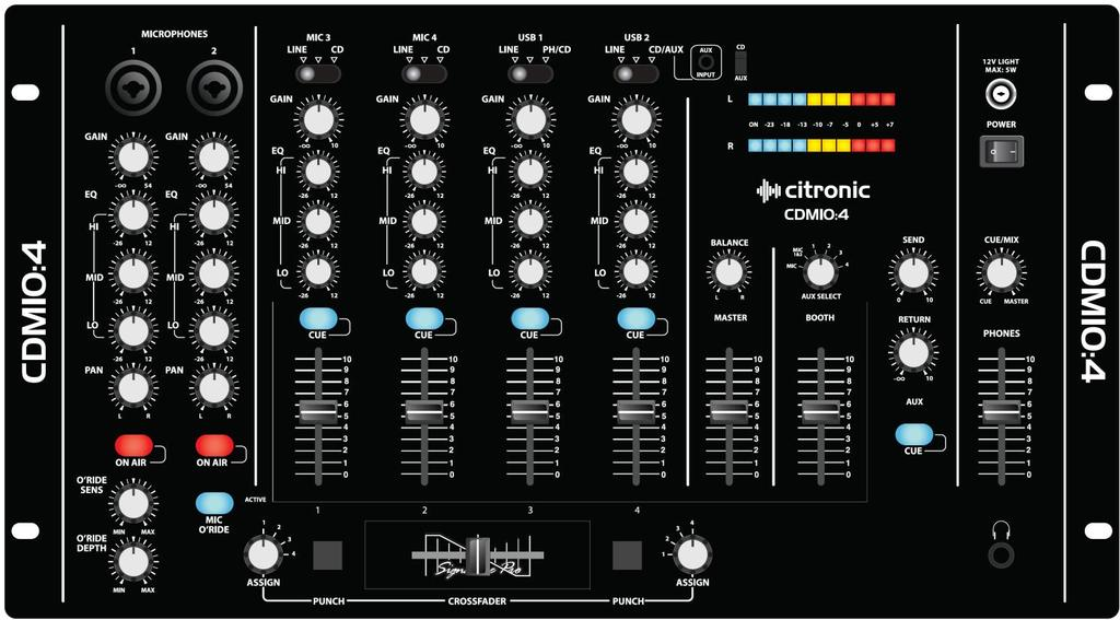 CDM10:4 19 4 Channel USB Mixer