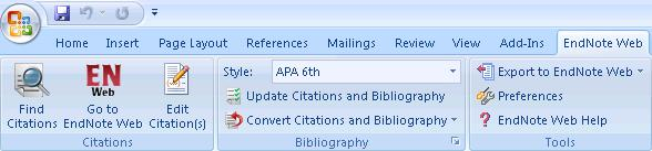 bibliographies automatically while writing a paper in Microsoft Word. It can be downloaded and installed by clicking on the Format tab then Cite While You Write Plug-In then Download.