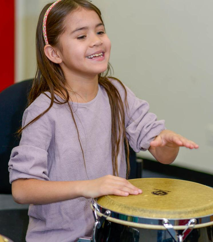 African and Latin Percussion Ages 7-11 Students are taught hand patterns and rhythmic structures from West African, Cuban and other Caribbean traditions.