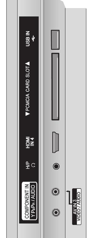 8 9 0 4 RS-C IN (CONTROL & SERVICE) PORT Connect to the RS-C port on a PC. This port is used for Service or Hotel mode.