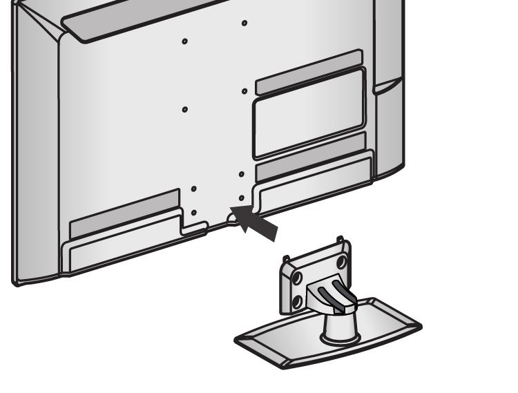 When assembling the desk type stand, check whether the bolt is fully