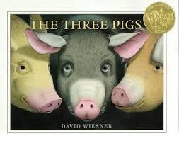 14 Title: The Three Pigs Author: David Wiesner Illustrator: David Wiesner Copyright Date: 2001 Identify the kind(s) of picture books: story book Author s style: dialogue Description of the art/visual