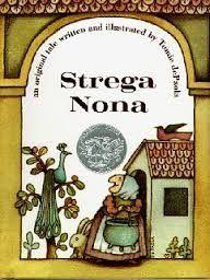 18 Title: Strega Nona Author: Tommie de Paola Illustrator: Tommi de Paola Copyright Date: 1975 Identify the kind(s) of picture books: story book Author s style: dialogue Description of the art/visual
