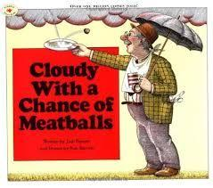21 Title: Cloudy With a Chance of Meatballs Author: Judi Barrett Illustrator: Ron Barrett Copyright Date: 1978 Identify the kind(s) of picture books: story book Author s style: narrative Description