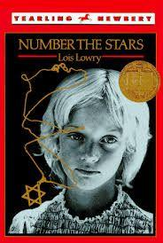 42 Title: Number The Stars Author: Lois Lowry Awards: Newbery Reading Level: 5th Publisher: Bantam Doubleday Dell Books for Young Readers Copyright Date: 1989 ISBN #: 0440403278 Number of Pages: 132