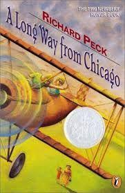 51 Title: A Long Way from Chicago Author: Richard Peck Awards: Newbery Reading Level: 4th-6th grade Publisher: Scholastic Copyright Date: 1997 ISBN #: 0-439-24092-1 Number of Pages: 148 Genre: