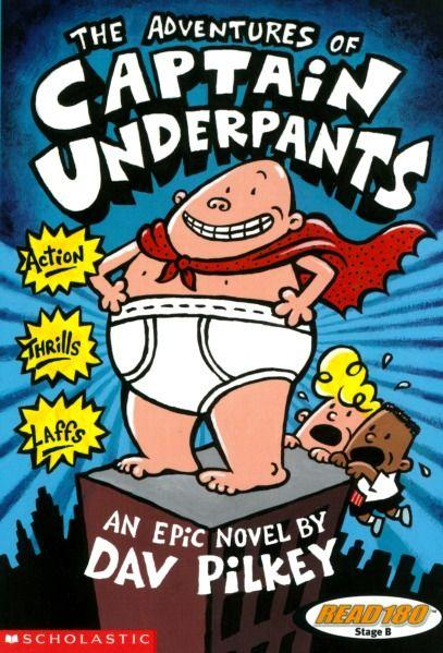 61 Title: The Adventures of Captain Underpants Author: Dav Pilkey Awards: none Reading Level: Publisher: Scholastic Copyright Date: 2000 ISBN #: 0439014573 Number of Pages: 125 Genre: Fiction Setting