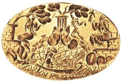 The ring of Minos. Gold signet ring from Knossos (LM IA).