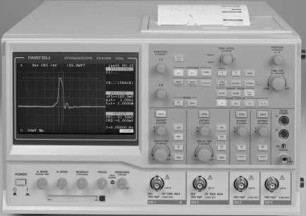 Unique! Analog Storage Oscilloscope TS-81000/80600 State of the art Analog Storage Oscilloscope with Ultra-high brightness!