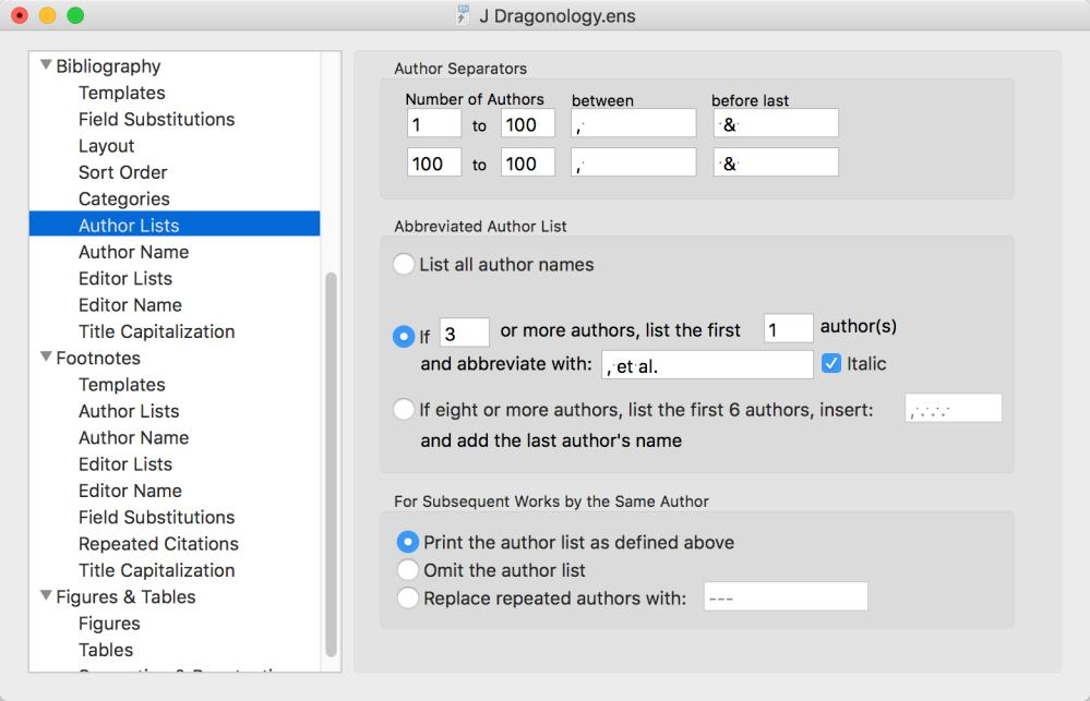 Author Lists, Author Name, Editor Lists and Editor Name The Author Lists and Author Name sections work as they do in the citation template.