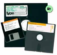 The age of the... floppy A graphic representation of what s happened with fonts and storage capacity since digital media came on line in the 1980s.