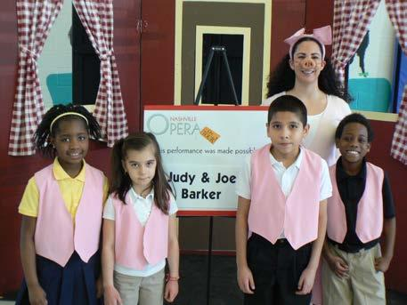 Thank your sponsor! Bringing one performance to your school costs the Nashville Opera approximately $1500!
