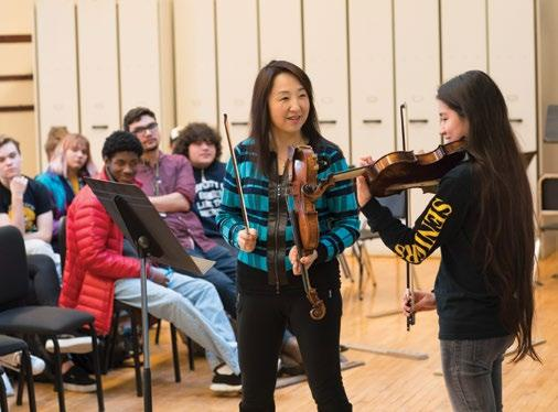 The majority of school partners host CSO and Civic musicians for performances and bring participants to Symphony Center for CSO School Concerts.