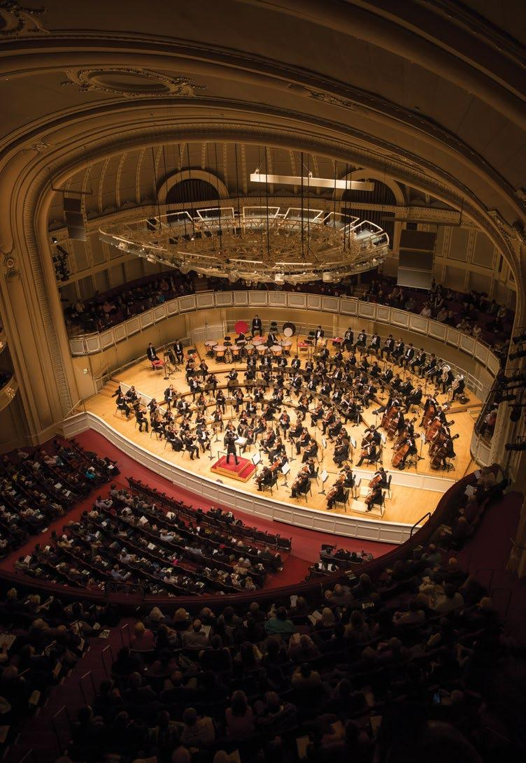 Musicians 90 Performances 40 Audience members 20,000 At the helm of the Civic Orchestra is a world-class faculty of coaches and mentors that includes CSO Zell Music Director Riccardo Muti, twenty