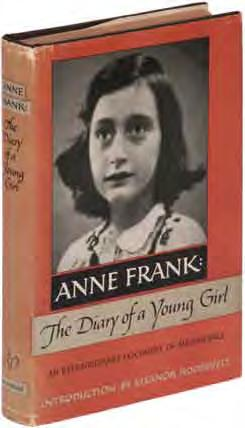 Basis for the 1949 Clarence Brown film, considered one of the most powerful films about racial prejudice ever made. Haycraft-Queen Cornerstone. [BTC #369652] 14 Anne FRANK The Diary of a Young Girl.