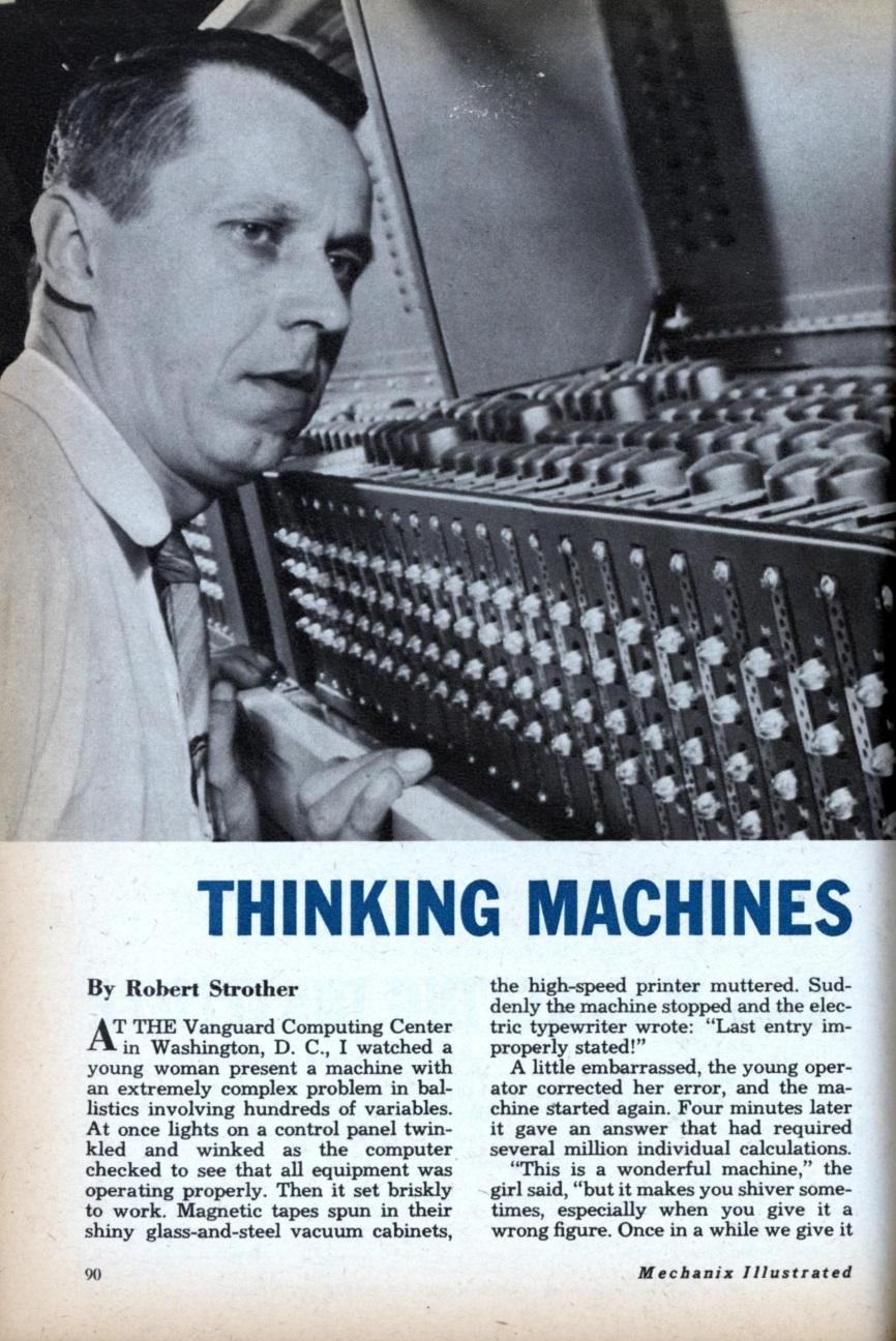 Turing believed that the possibility of a