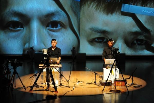 Hong Kong artist Samson Young used brainwave sensors to generate sound through the act of listening.