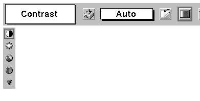 Adjust each level by pressing POINT LEFT/RIGHT button(s). IMAGE ADJUST MENU Move the red frame pointer to the item to be selected and then press SET button.