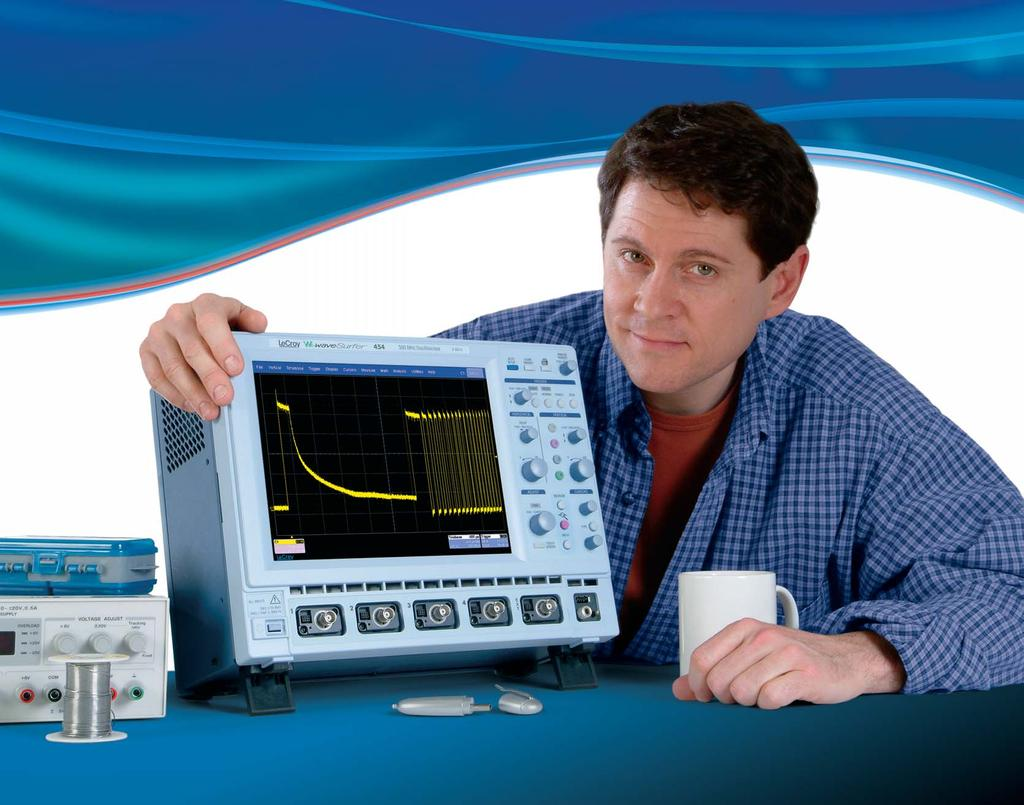 Expect to Make Waves. The New Oscilloscope Large 10.