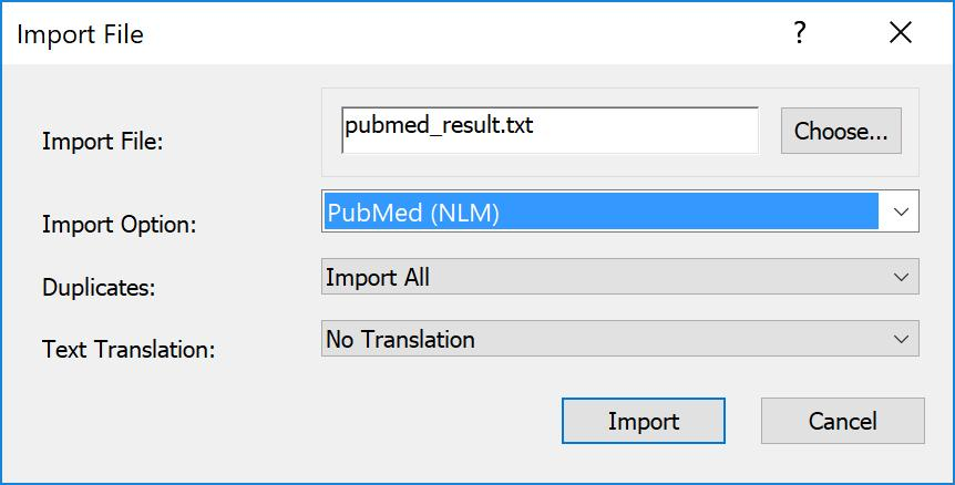 EndNote X9 Guided Tour: Windows Page 28 of 41 Text Translation: No Translation This option allows you to specify the text character encoding of the file you import.