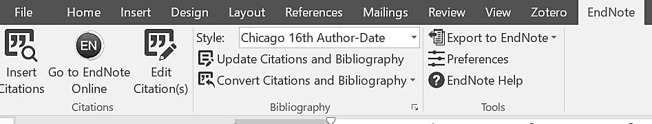 EndNote Web will embed the citation in the desired format, and append the bibliographic reference at the end of the paper.