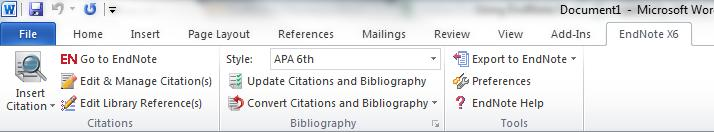 Changing Bibliography Formatting Click on the arrow at the bottom right of the