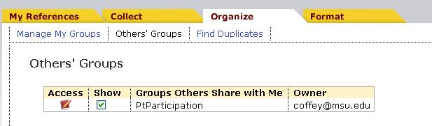 Sharing EndNote Web groups is great for collaborative projects!