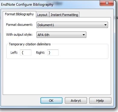 Formatting your bibliography (reference list) in Word Each time you find and insert a citation in your document, the bibliography automatically formats according to the style selected.