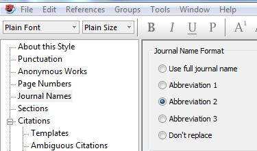 when formatting your reference list 1. From the Edit menu in EndNote, select Output Styles, and Edit Vancouver. 2.