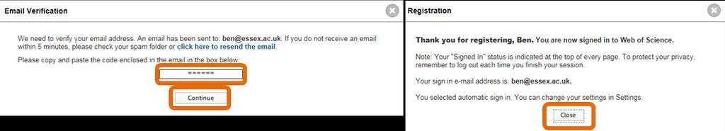 Step 7: You will be asked to verify your email address before being prompted to create your account.