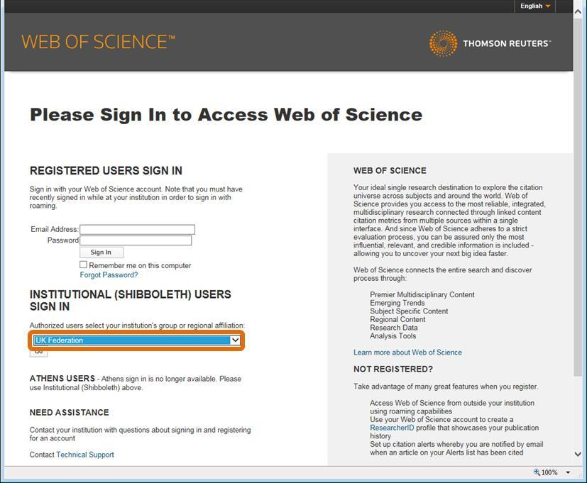 then sign in to EndNote online. Step 1: Go to http://wok.mimas.ac.uk/ and select Problems with access?