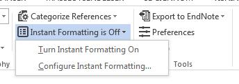 You do not need to turn off formatting for the entire document, it is sufficient to only turn it off for the paragraph you want to move.