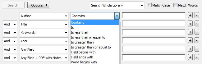 3.7.1 Quick Search & Search Panel The Quick Search (Fig 13) can be found in the toolbar (1).