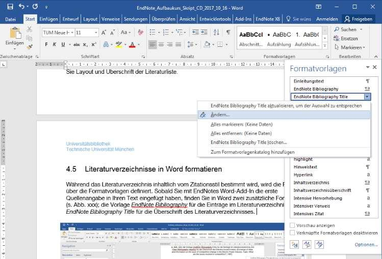 Word add-in, you'll find two additional style sheets in Word (see Fig.