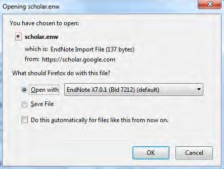 1 From now on, when you search Google Scholar, there will be an Import into Endnote link