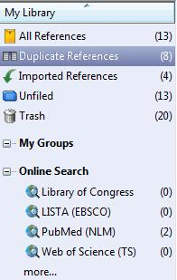 Online Search Function With the Online Search command, you can search online bibliographic databases just as easily as you can search an EndNote