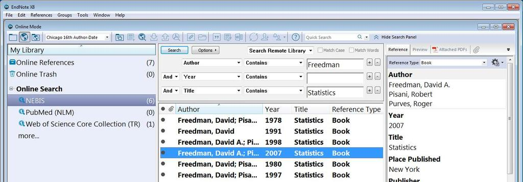Collect Metadata EndNote s
