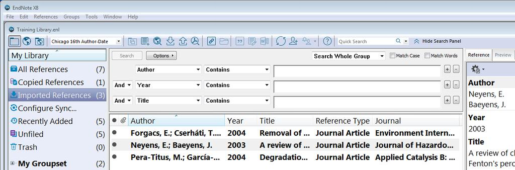 Collect Metadata External Database Search & Import (Scopus) RIS-files