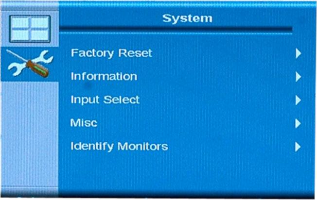 4.2.5 System Menu System menu options are shown in Figure 4-16 and described in the subsections below.