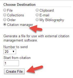 Click on Choose to select the file you just saved and click on Open. Your citations will now automatically be added to your EndNote library.