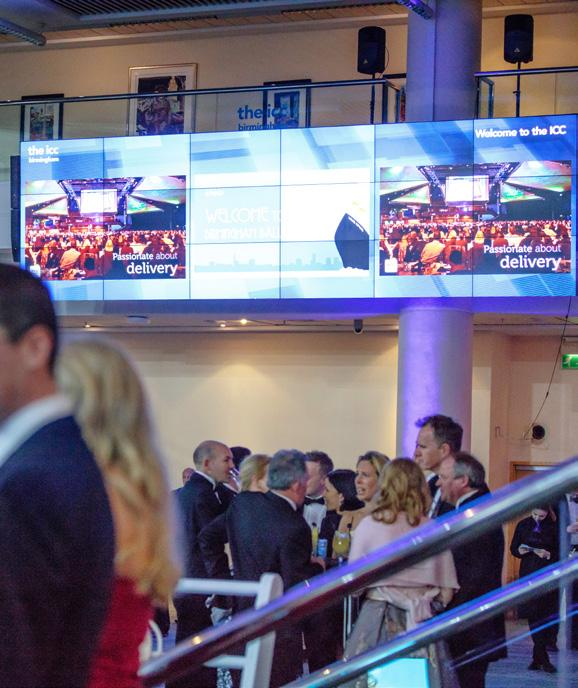 SECTION 6 DIGITAL SIGNAGE REGISTRATION MEDIA WALL HEADLINE ATTRACTION While there are many opportunities across the whole venue for branding and event support, few have as much impact as our giant