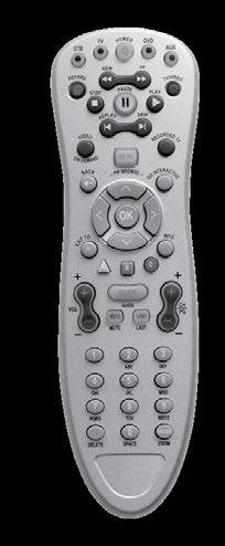 Universal Remote Control Device Control Turns devices on or off. Enables set-top mode functions. DVR, VOD, DVD, VCR Control Notes: In STB mode, these keys control DVR and VOD functions.