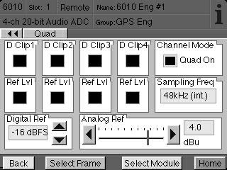 The Quad Menu shown below has been provided to allow adjusting and monitoring all four channels at the same time when in Quad Tracking mode.
