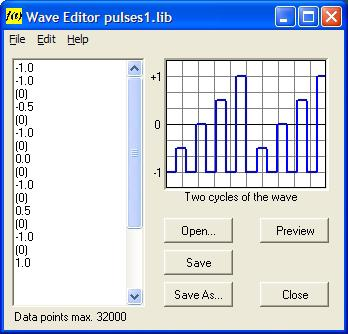 ADVANCED FEATURES Waveform Editing Elaborate and unlimited waveform structures may