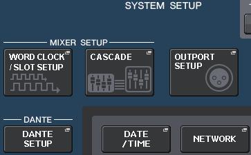 Quick Guide Changing the signal output to each output port 1. Press the SETUP button in the display screen.