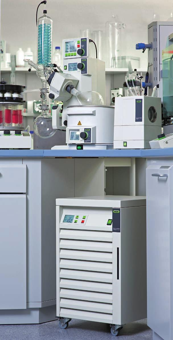 Different power rating for different requirements Whether you are using rotary evaporators, parallel evaporators, Soxhlet Extraction or nitrogen determination, Buchi supplies multiple chillers which