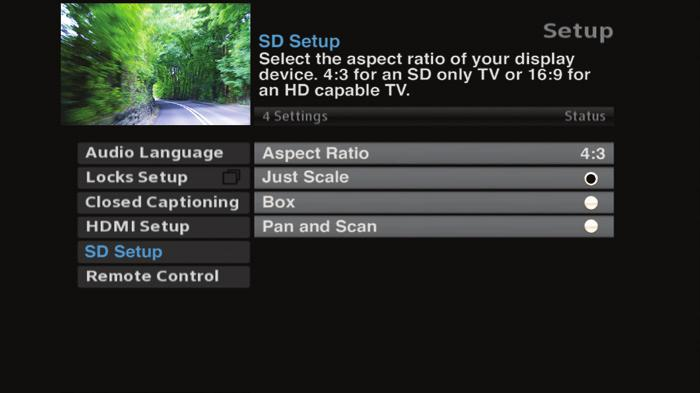 Closed Captioning è Select Closed Captioning, press OK to change status from On/Off. When Closed Captioning is turned On.
