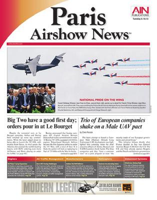 2015 AIRSHOW DAILY EDITIONS EDITORIAL CALENDAR Airshow Publication Pub Date Ad Close Materials Due PARIS AIRSHOW June 15, Monday Day 1 Paris June 16, Tuesday Day 2 Airshow
