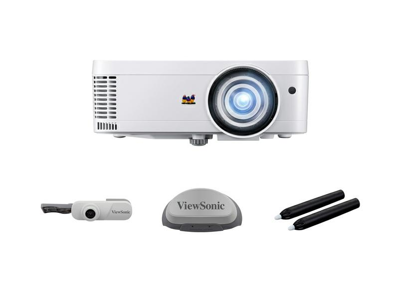Interactive module compatible With the optional interactive package, (PJ-vTouch-10S), this projector becomes an interactive tool that transforms any surface into an interactive whiteboard.
