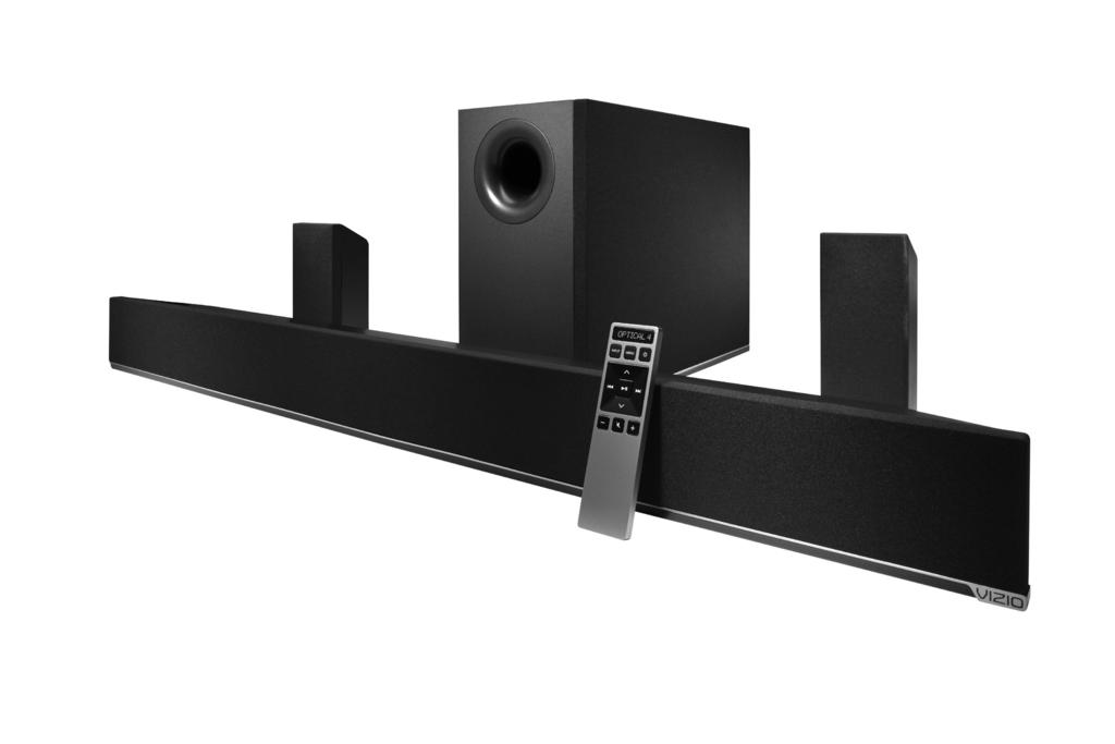 VIZIO RECOMMENDS 5.1 Home Theater Sound Bar with Wireless Sub & Satellites For the pinnacle of surround sound immersion and convenience, the VIZIO 5.1 Sound Bar sets the bar exceptionally high.